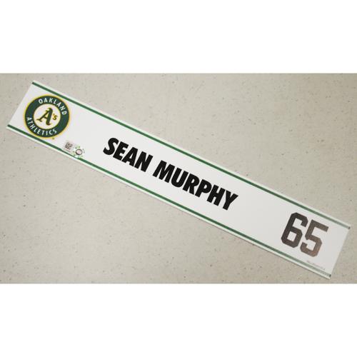 Photo of Sean Murphy Spring Training Locker Nameplate