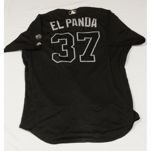 """Photo of Jairo """"El Panda` Diaz Colorado Rockies Game-Used 2019 Players' Weekend Jersey"""
