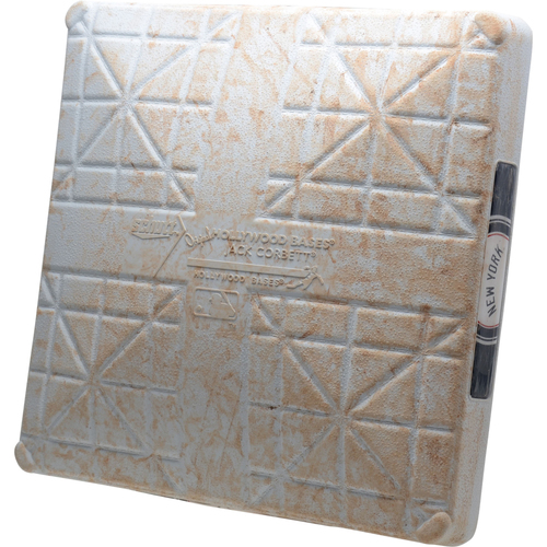 Photo of New York Yankees Game-Used 2nd Base vs. Cleveland Indians on August 18, 2019 - LeMahieu HR