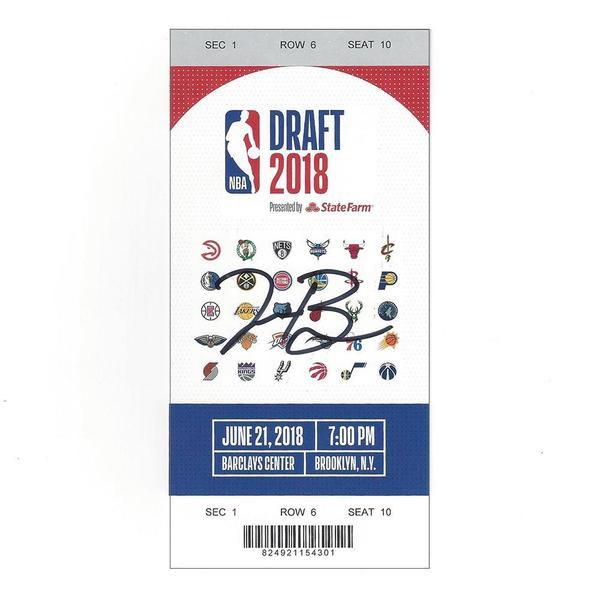 Image of Troy Brown Jr. - Washington Wizards - 2018 NBA Draft - Autographed Draft Ticket
