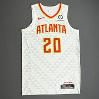 John Collins - Atlanta Hawks - Kia NBA Tip-Off 2019 - Game-Worn Association Edition Jersey - Double-Double
