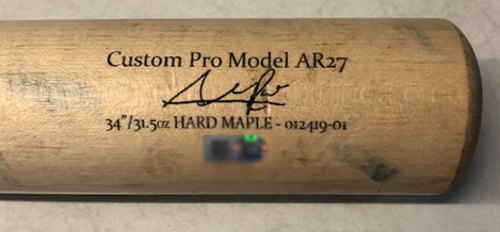 Photo of Addison Russell Team-Issued Cracked Bat --2019 Season