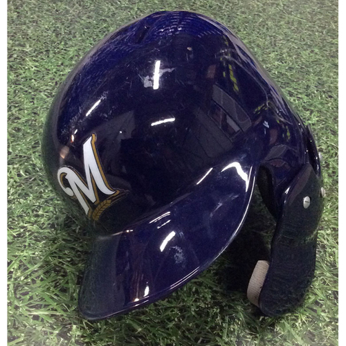 Photo of Keston Hiura 2019 Team-Issued Batting Helmet