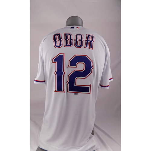 Photo of Game-Used White Jersey - Rougned Odor - 9/9/2017