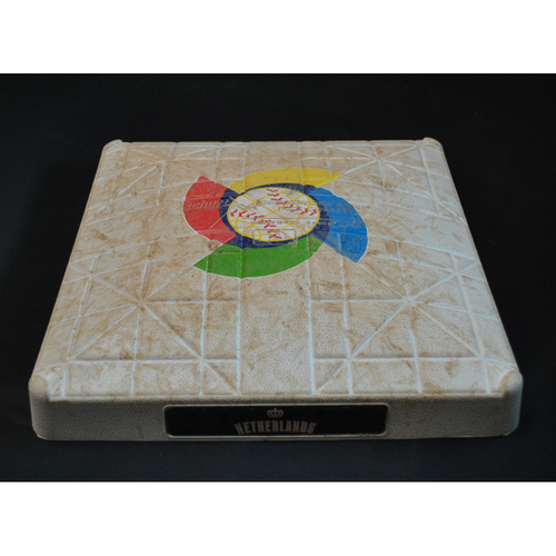 2017 World Baseball Classic Game-Used Base - Kingdom of the Netherlands at Puerto Rico 3/20/2017 - 2nd Base Innings 5-11