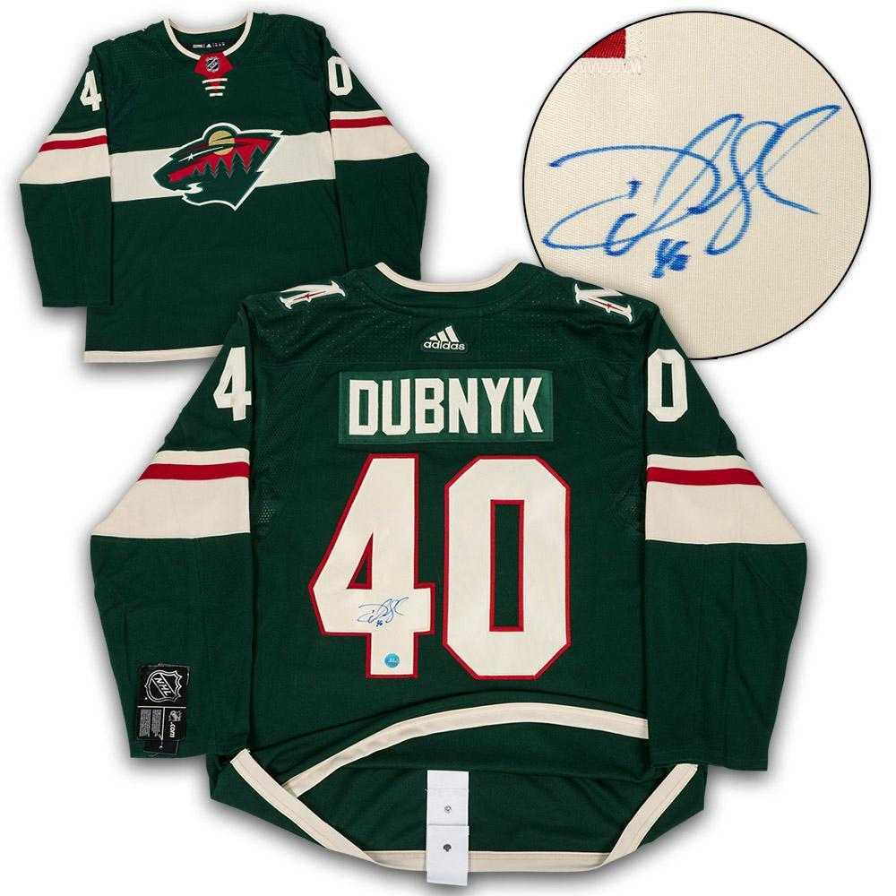 Devan Dubnyk Minnesota Wild Autographed Adidas Authentic Hockey Jersey