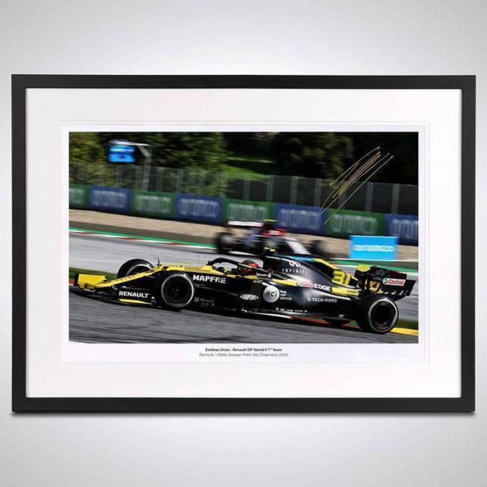 Esteban Ocon 2020 Framed Signed Photo - Austrian GP