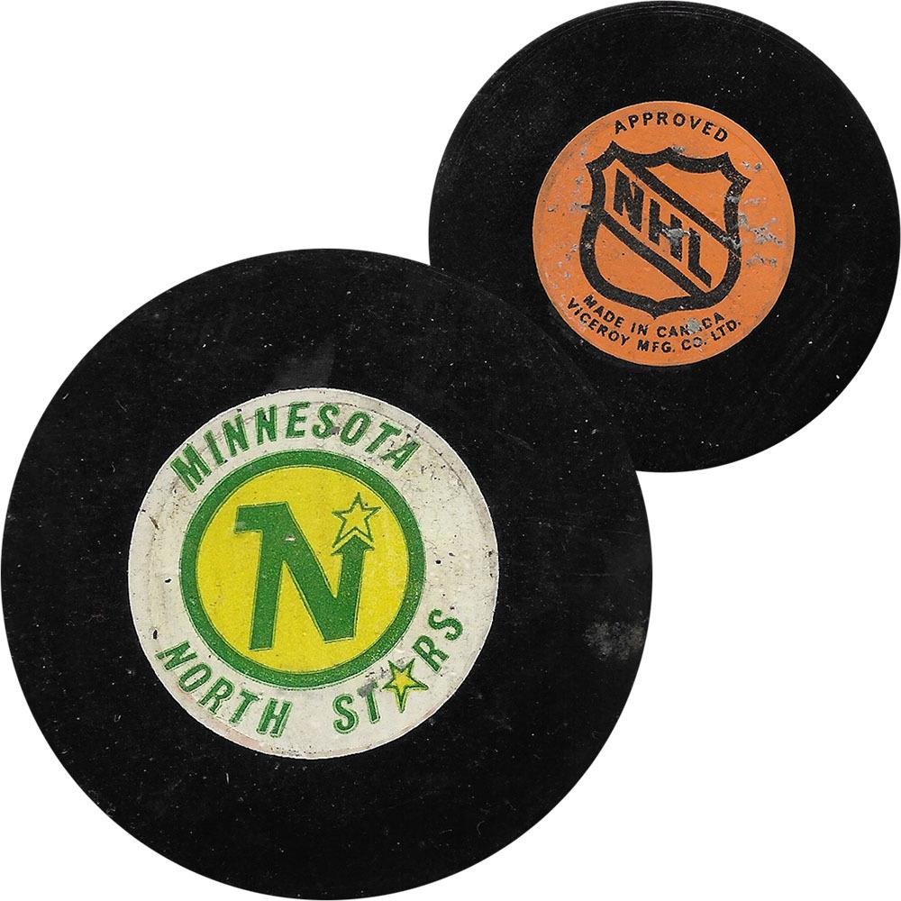 Classic Minnesota North Stars Viceroy Game Puck - 1977-83