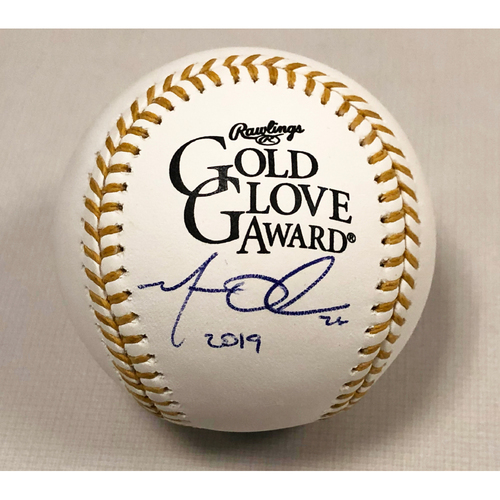 Photo of Matt Olson Autographed 2019 Gold Glove Baseball
