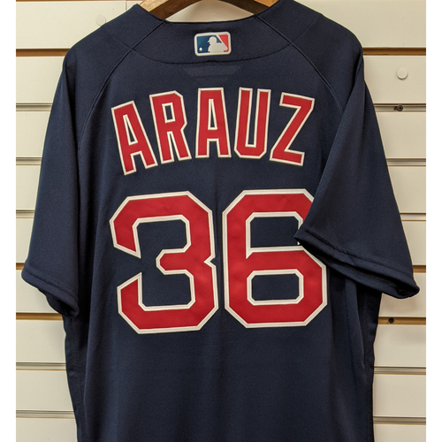 Photo of Jonathan Arauz #36 Team Issued Nike Navy Road Alternate Jersey