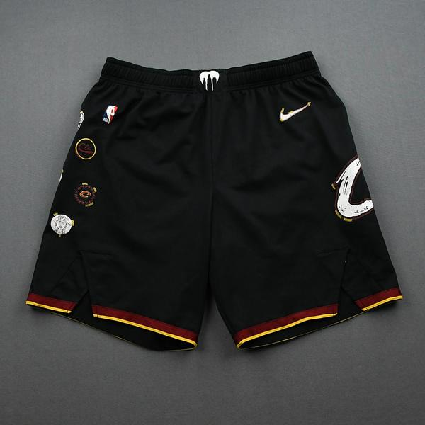 Image of Isaac Okoro - Cleveland Cavaliers - Game-Issued City Edition Shorts - 2020-21 NBA Season