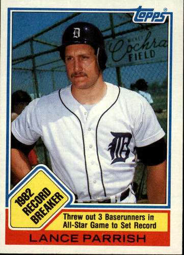 Photo of 1983 Topps #4 Lance Parrish RB