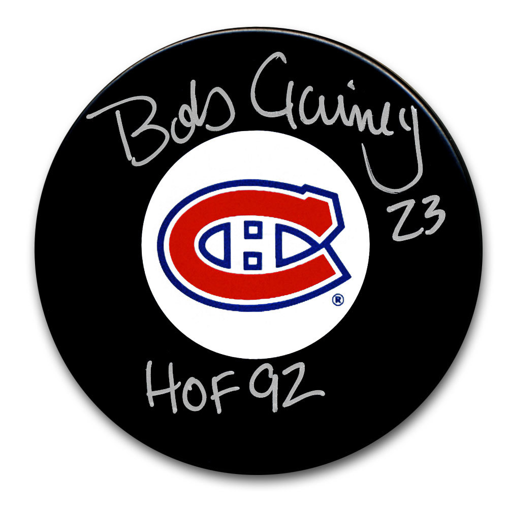 Bob Gainey Montreal Canadiens HOF Autographed Puck