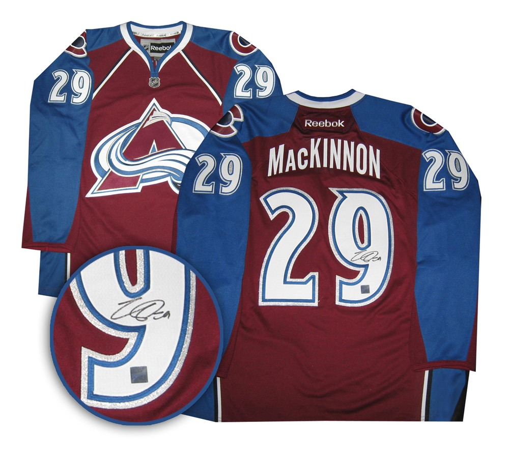 Nathan MacKinnon -  Signed Jersey Replica Avalanche Burgundy