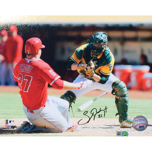 "Photo of Stephen Vogt ""Catching"" Autographed Photo"