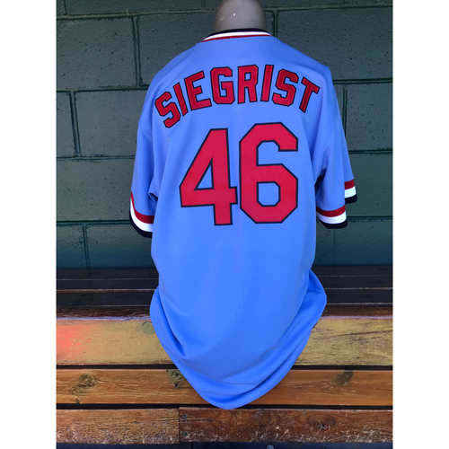 Cardinals Authentics: Kevin Siegrist Game Worn 1984 Turn Back the Clock Uniform