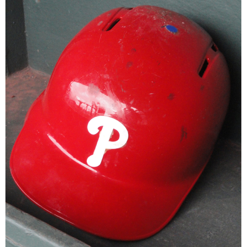 Photo of 2017 Game-Used Red Helmet: J.P. Crawford