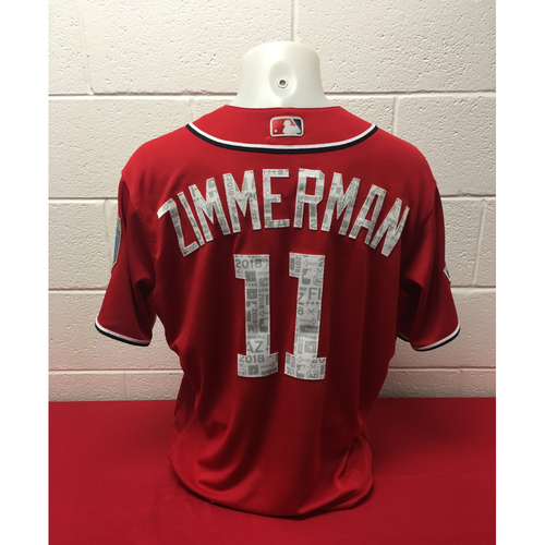 Photo of Game-Used Spring Training Jersey: Ryan Zimmerman