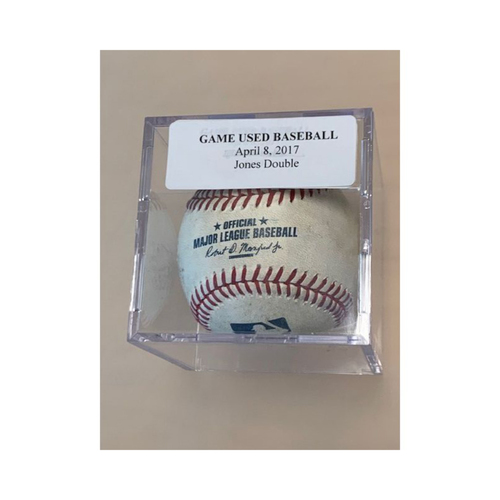 Photo of Game-Used Baseball: JaCoby Jones Double