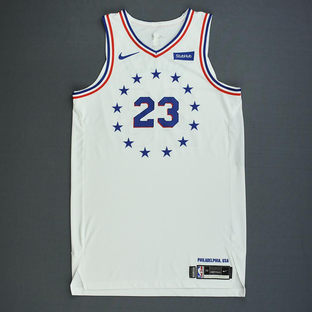 new style 6e02b 90c3a Jimmy Butler - Philadelphia 76ers - Christmas Day' 18 - Game ...