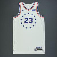Jimmy Butler - Philadelphia 76ers - Christmas Day' 18 - Game-Worn 2nd Half Earned City Edition Jersey
