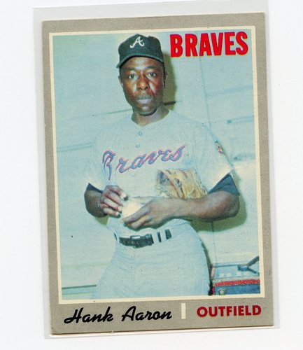 Photo of 1970 Topps #500 Hank Aaron -- Hall of Famer
