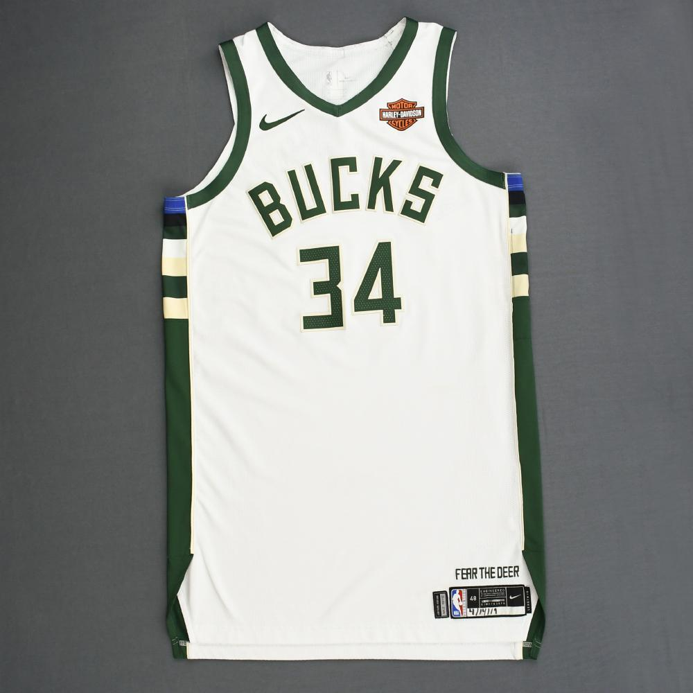 premium selection 579d9 71949 Giannis Antetokounmpo - Milwaukee Bucks - Game-Worn ...