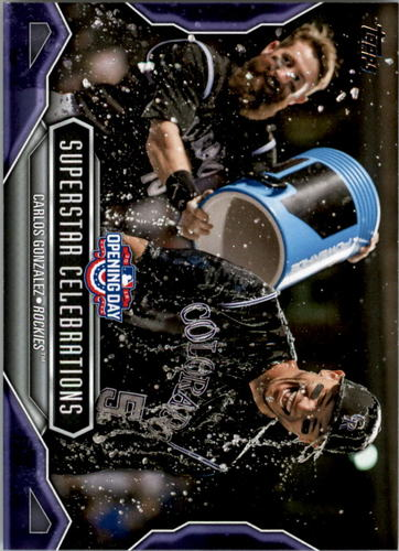 Photo of 2016 Topps Opening Day Superstar Celebrations #SC18 Carlos Gonzalez