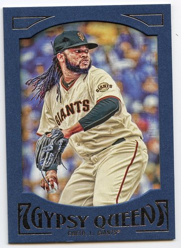 Photo of 2016 Topps Gypsy Queen Framed Blue #32 Johnny Cueto