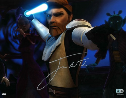 James Arnold Taylor As Obi-Wan Kenobi 11X14 AUTOGRAPHED IN 'Silver' INK PHOTO