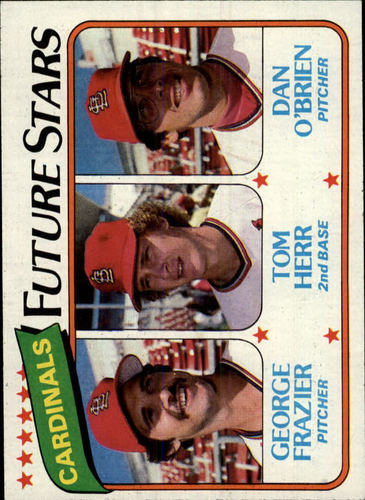 Photo of 1980 Topps #684 George Frazier/Tom Herr RC/Dan O'Brien RC
