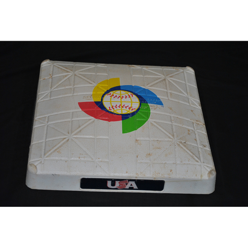Photo of 2017 World Baseball Classic Game-Used Base - USA vs Japan 3/21/2017 - 3rd Base Innings 1-4