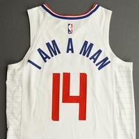 Terance Mann - Los Angeles Clippers - Game-Worn Association Edition Jersey - 2019-20 NBA Season Restart with Social Justice Message