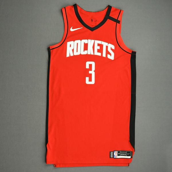 Image of Chris Clemons - Houston Rockets - Game-Worn Icon Edition Jersey - Dressed, Did Not Play (DNP) - 2019-20 NBA Season Restart with Social Justice Message