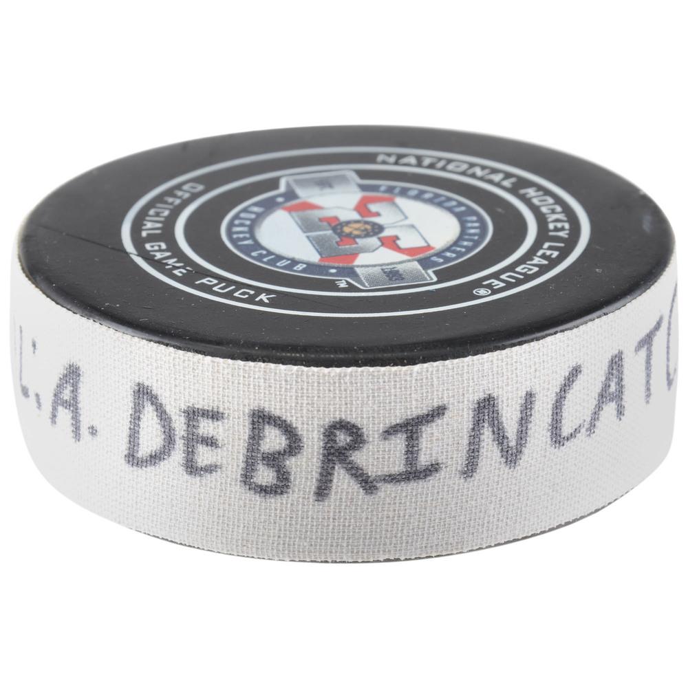 Alex DeBrincat Chicago Blackhawks Game-Used Goal Puck from November 24, 2018 @ Florida Panthers