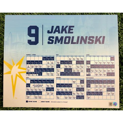 Photo of Rays Baseball Foundation: Team Issued Locker Tag: Jake Smolinski - 2019 Season