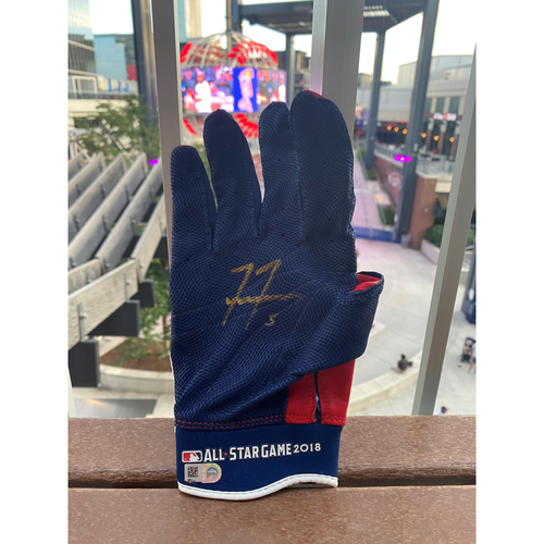 Photo of Freddie Freeman MLB Authenticated Autographed and 2018 MLB All Star Game Issued, Right-handed Batting Glove