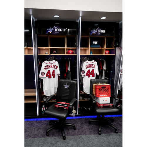 Photo of 2021 All-Star Game Clubhouse Chair Panel from Trea Turner's Locker Chair