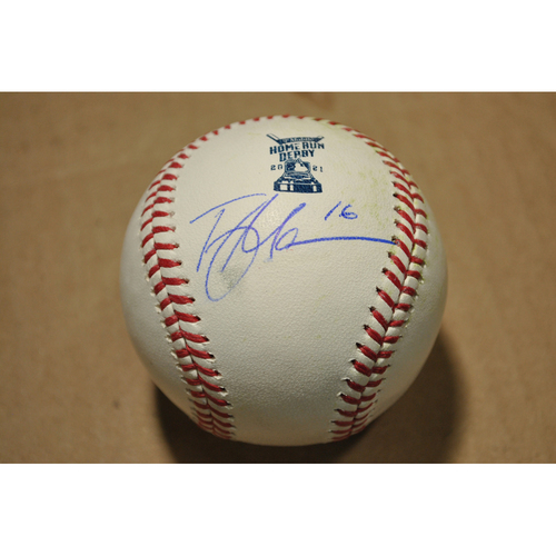Photo of MLB Players Youth Development Foundation: 2021 T-Mobile Home Run Derby Used & Autographed Baseball - Trey Mancini, Round 1 Out