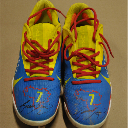 Photo of More than Baseball: Game-Used and Autographed Cleats - Miami Marlins at Milwaukee Brewers - 6/11/21 - Eugenio Suárez