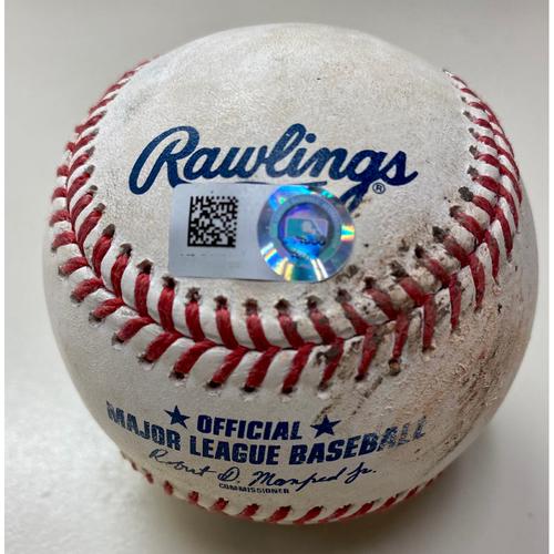 Photo of Game-Used Baseball: Akil Baddoo Detroit Tigers RBI Single (MLB AUTHENTICATED)