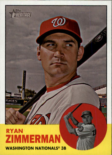 Photo of 2012 Topps Heritage #494A Ryan Zimmerman SP