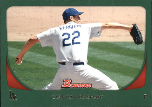 Photo of 2011 Bowman Green #65 Clayton Kershaw