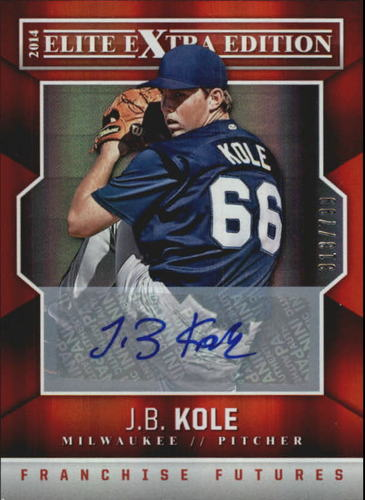 Photo of 2014 Elite Extra Edition Franchise Futures Signatures #88 J.B. Kole/799