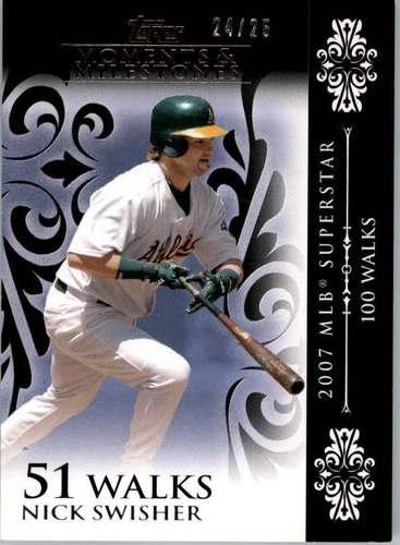 Photo of 2008 Topps Moments and Milestones Black #104-51 Nick Swisher