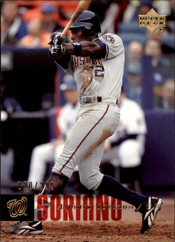 Photo of 2006 Upper Deck Gold #857 Alfonso Soriano /299