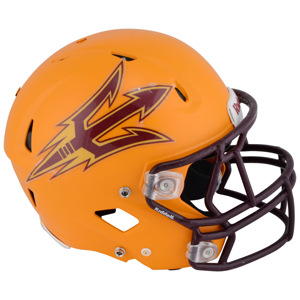 Arizona State Sun Devils Game-Used Gold Helmet used during the 2011 - 2015 Seasons - Size Medium