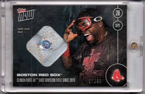 Photo of 2016 Topps Now #517 #517C Red Sox Clinch David Ortiz Game Used Base Relic 7/49