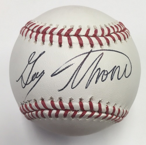 Photo of Gary Thorne Autographed Baseball