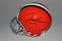 HOF - BROWNS JIM BROWN SIGNED BROWNS PROLINE HELMET
